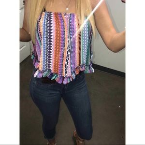 Tops - Really pretty multicolored strapless shirt!